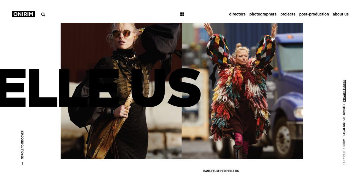 Photography Minimalist Website Design