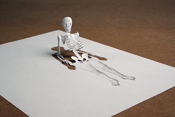 Skeleton Paper Art