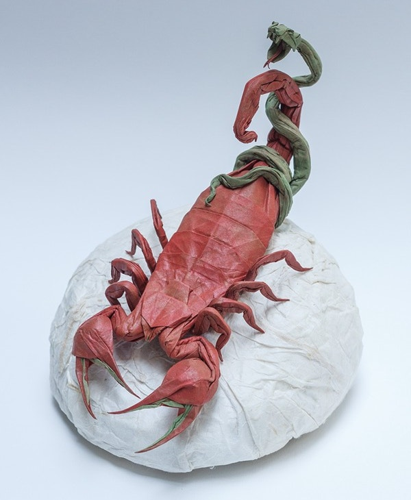 Scorpion Paper Art Design