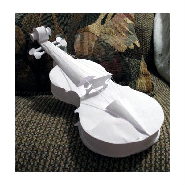 Violin Paper Art