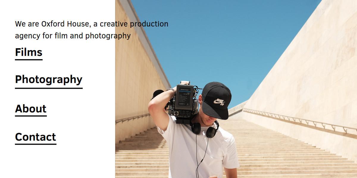 Agency Minimalist Website Design