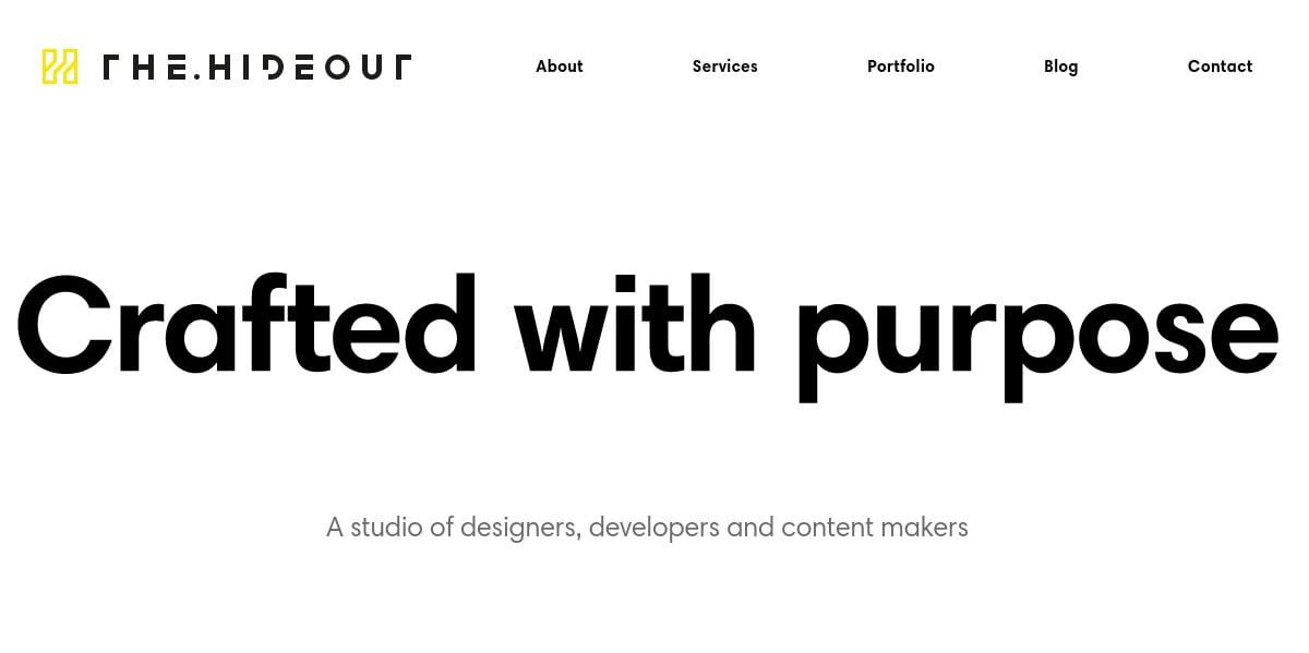 Studio Blog Website Design