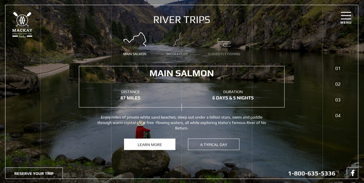 travel minimalist website design 171