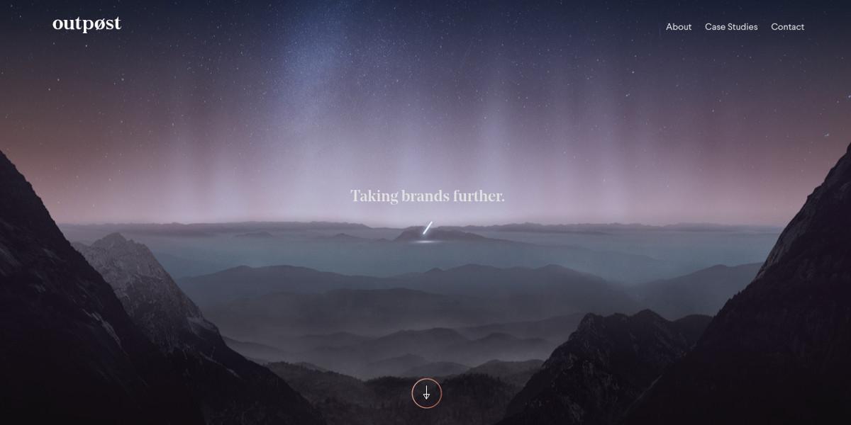 Advertising Agency Minimalist Website Design