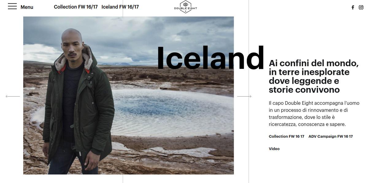 Men Fashion Minimalist Website Design
