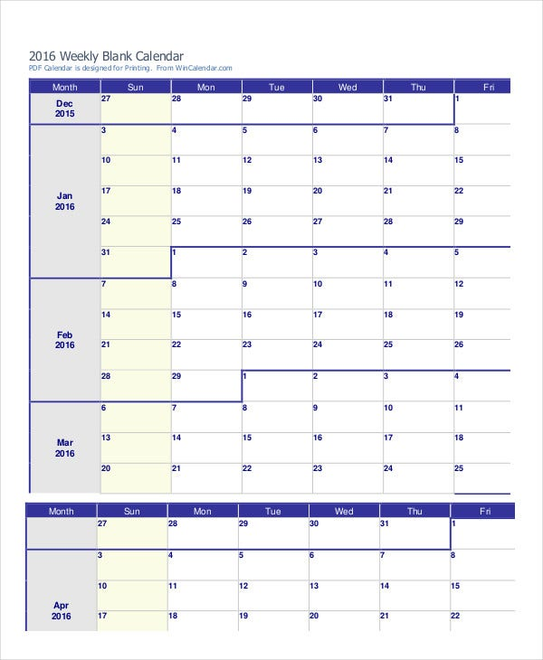 Printable Weekly Calendar 14 Free Word Excel Pdf Psd Documents