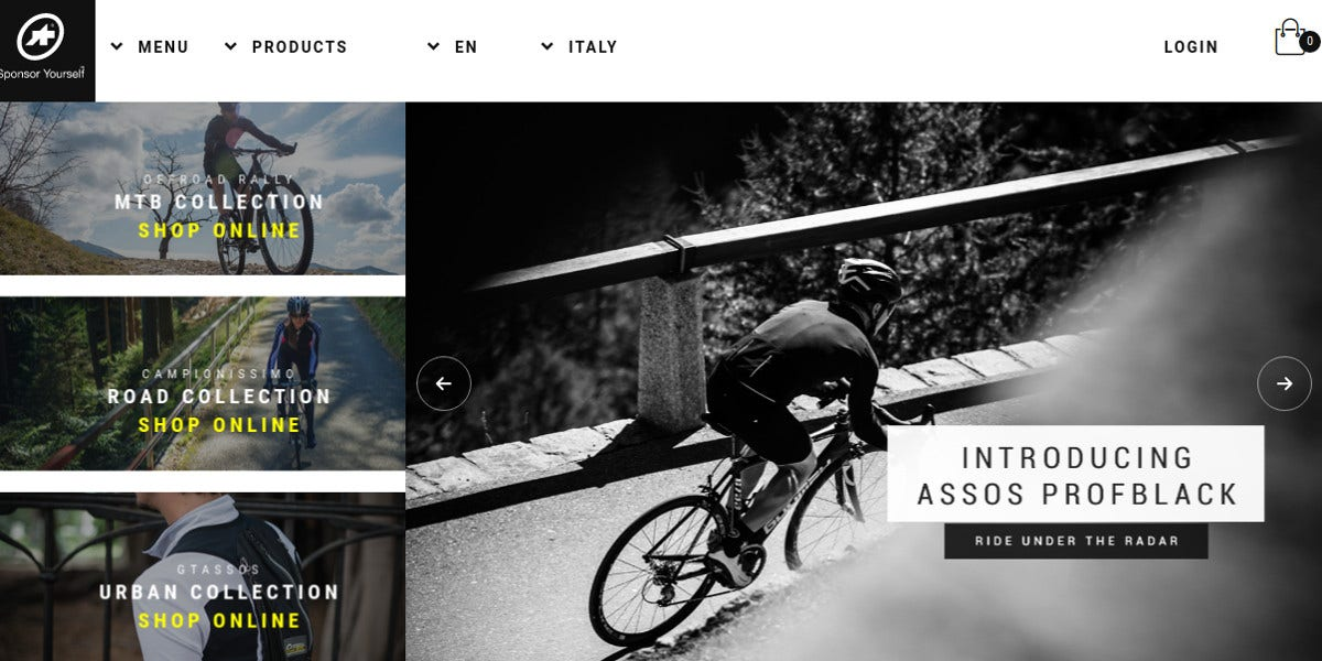 2 bike store html5 websites design inspiration