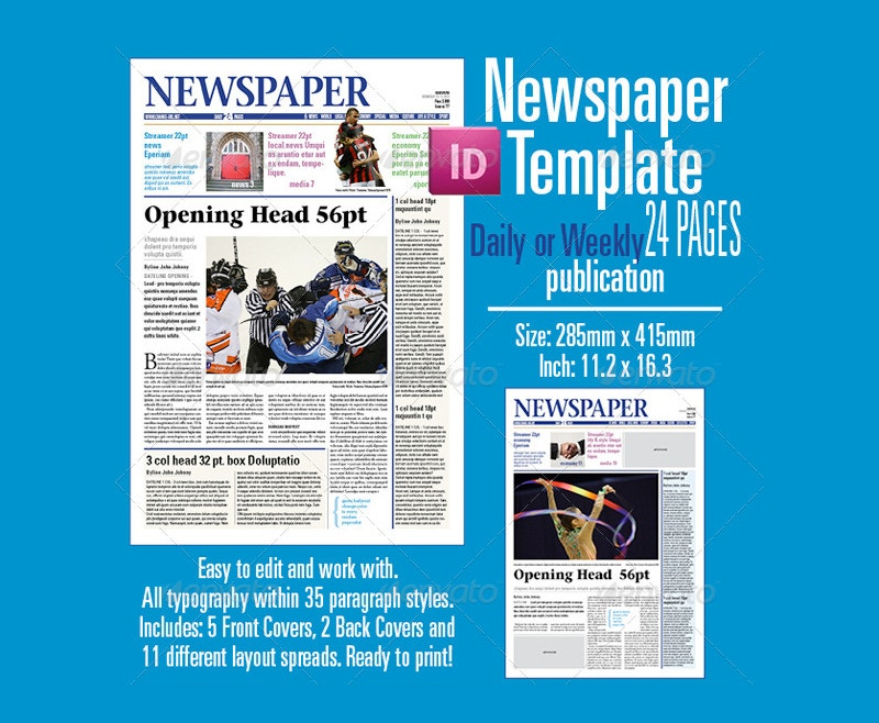 Newspaper Advertising Template Newspaper Advertising Template