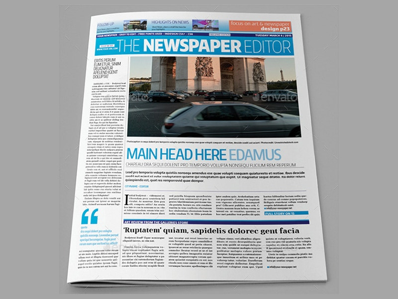 indesign-newspaper-layout