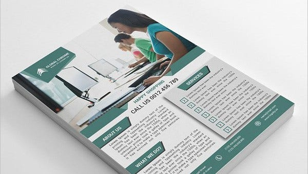 business flyer feature images