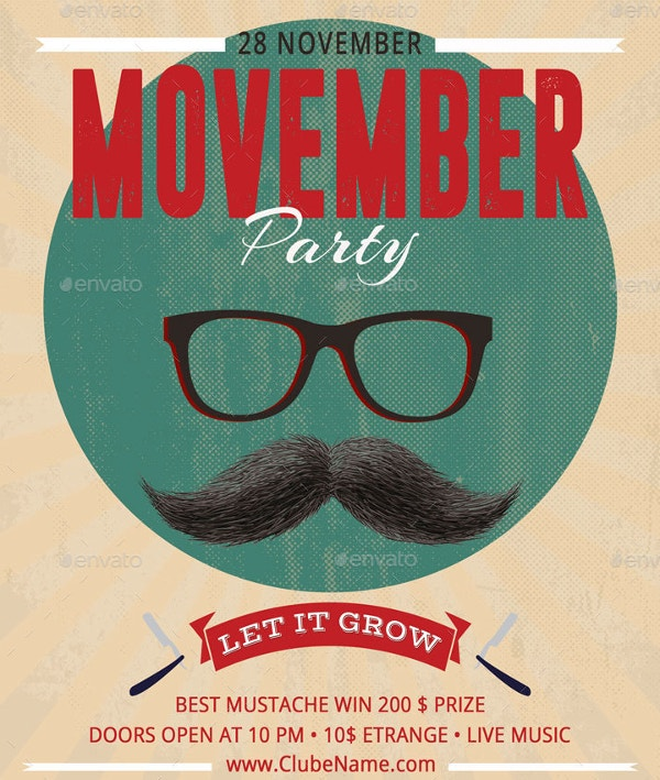 retro-movember-party-poster