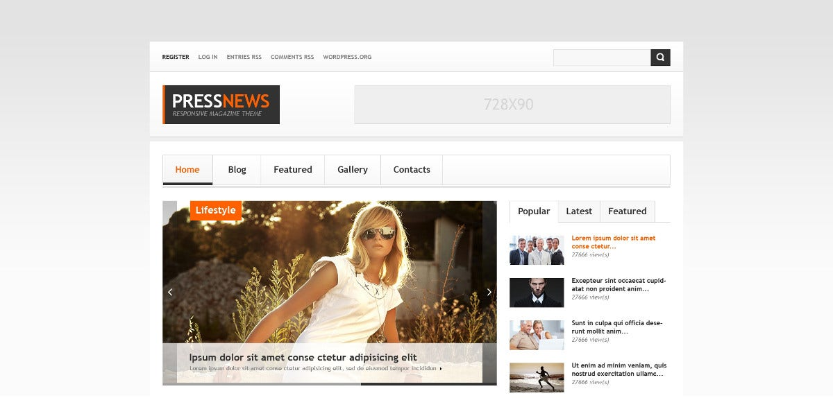 Interesting News Portal Bootstrap Website Theme $75