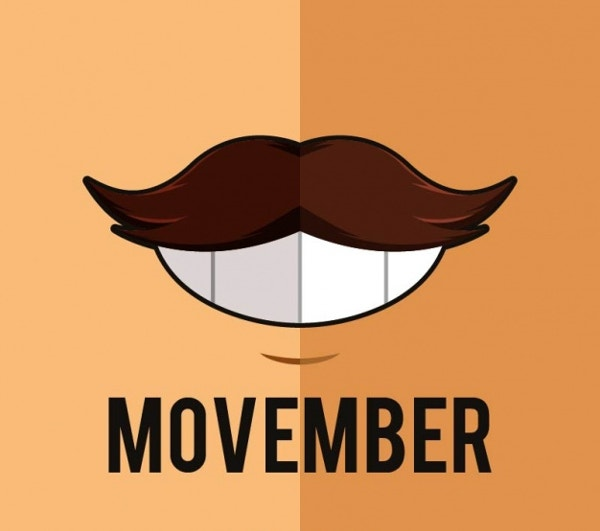 Movember Background Poster