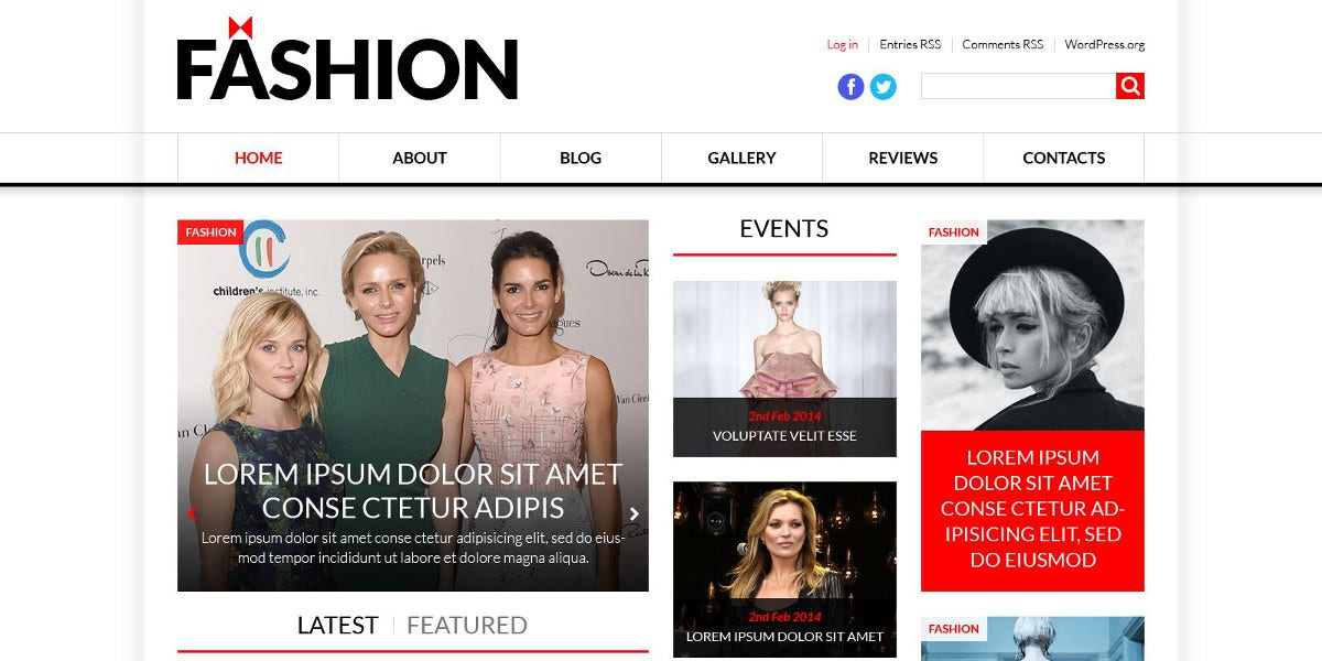 Fashion News Portal Website HTML Theme $75