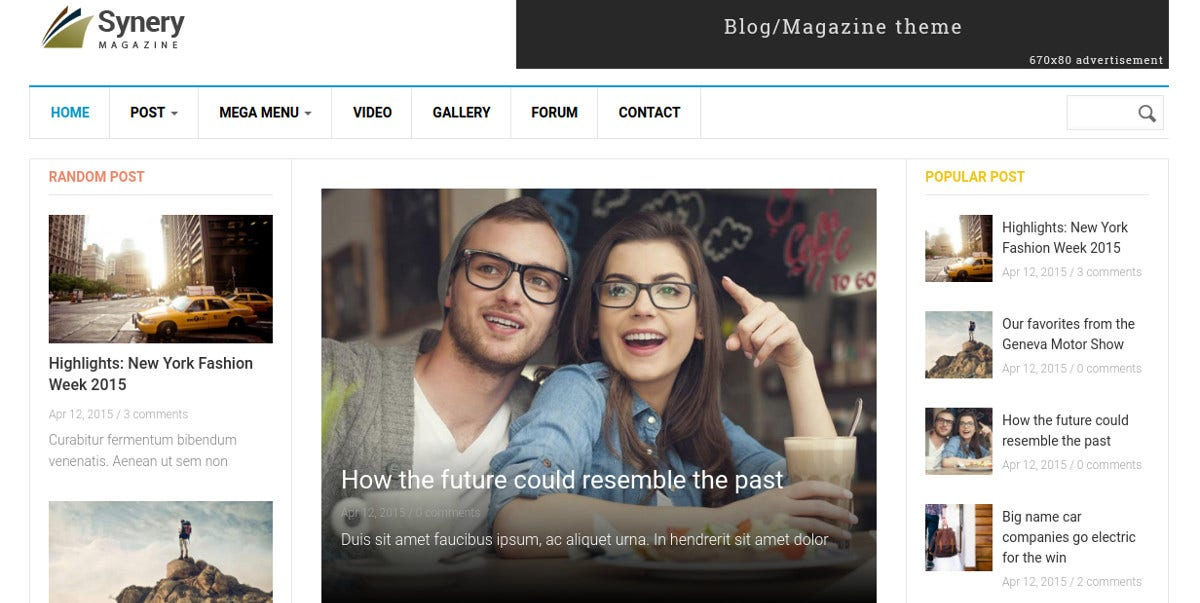 Responsive Magazine News Drupal Website Theme $48