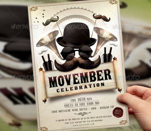 advertisement-movember-flyer-template