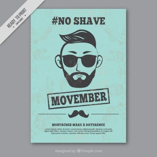 vintage no shave movember poster