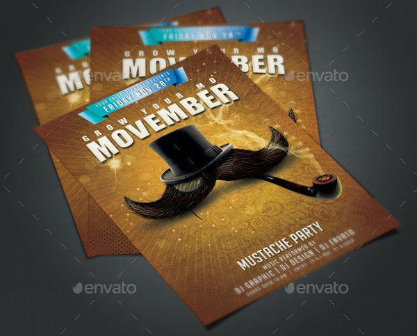 classic-movember-party-flyer-poster