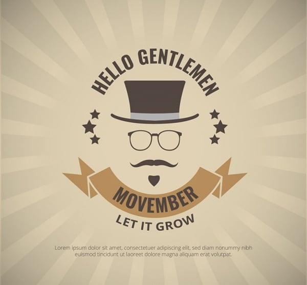 Free Vector Gentlemen Movember Poster