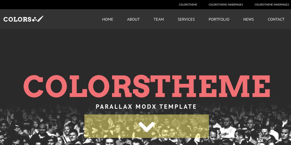 MODX Creative Parallax Theme $51