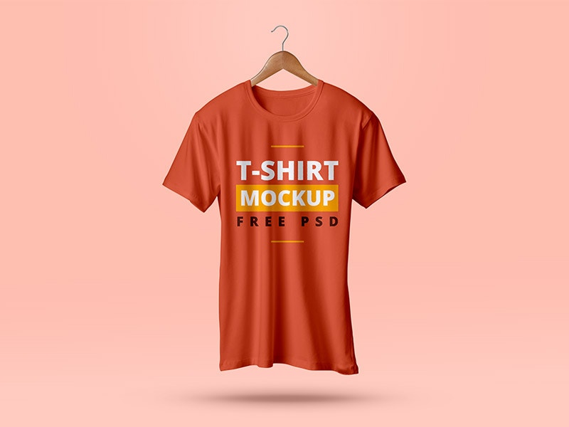 t shirt mockup psd on a plane background