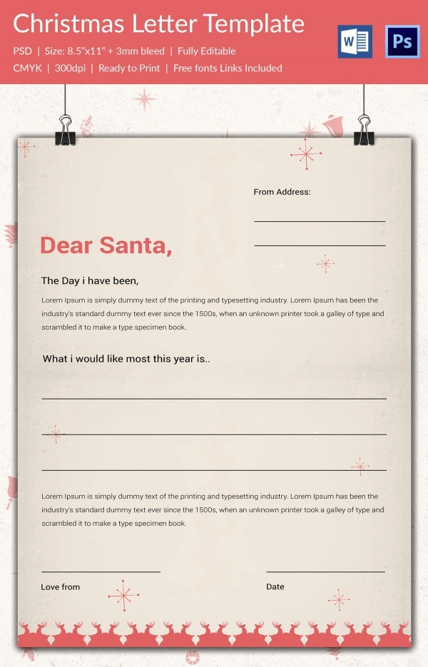 Doc710915 Christmas Letterhead Templates Word Free Christmas – Microsoft Word Christmas Letter Template