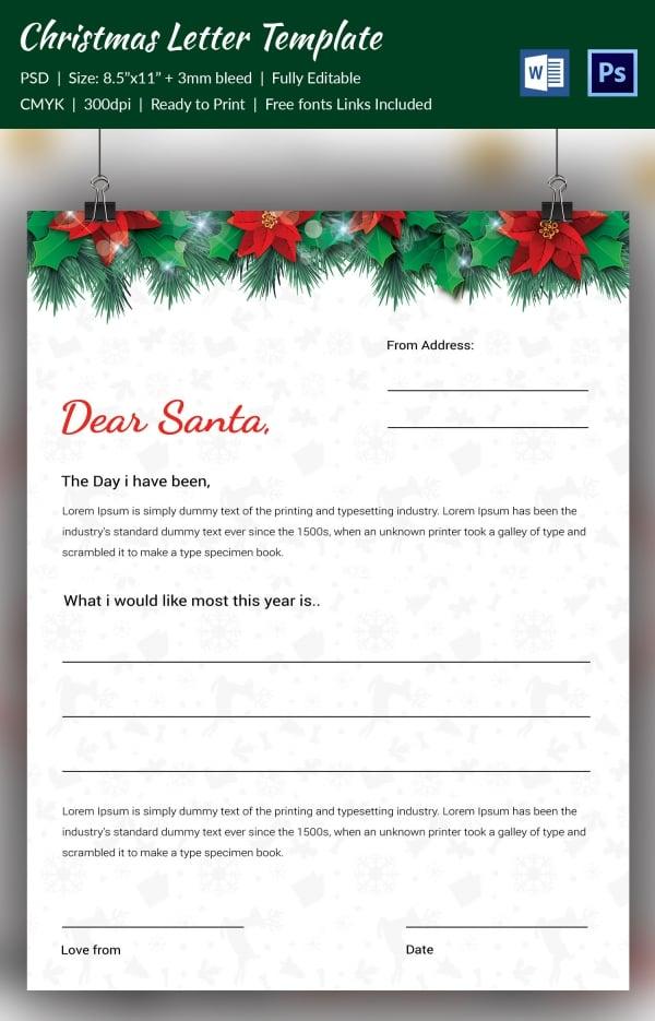 Vibrant Festive Christmas Spirit Letterhead Template