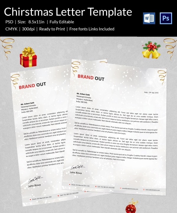Amazing Christmas Letterhead