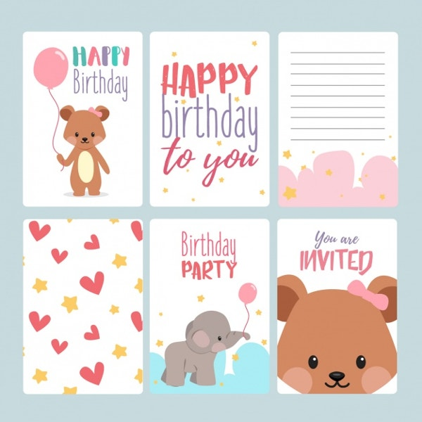 Birthday Invitation Card Template  Happy Birthday Card Template Free Download