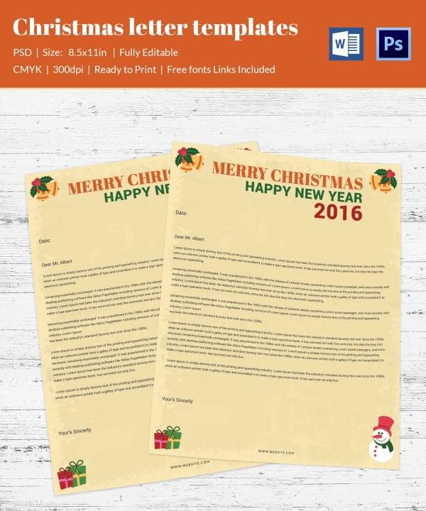 Christmas Gifting Letterhead Template