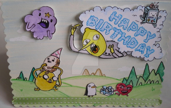 Adventure Time pop-up Birthday Card