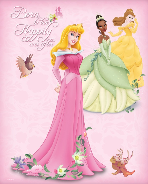 Disney Princess Free Birthday Card