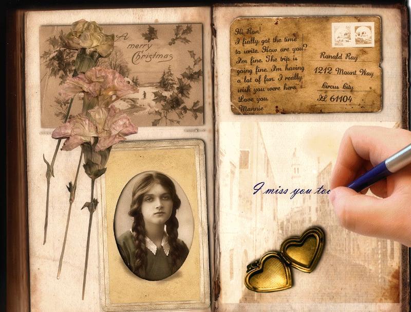 memorial postcard template