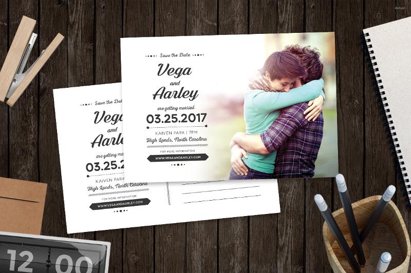 anniversary post card design