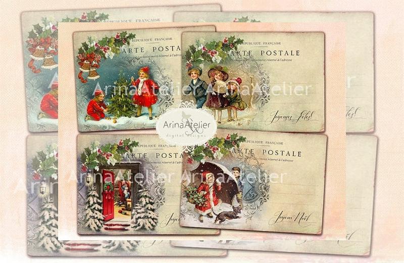 digital christmas post card