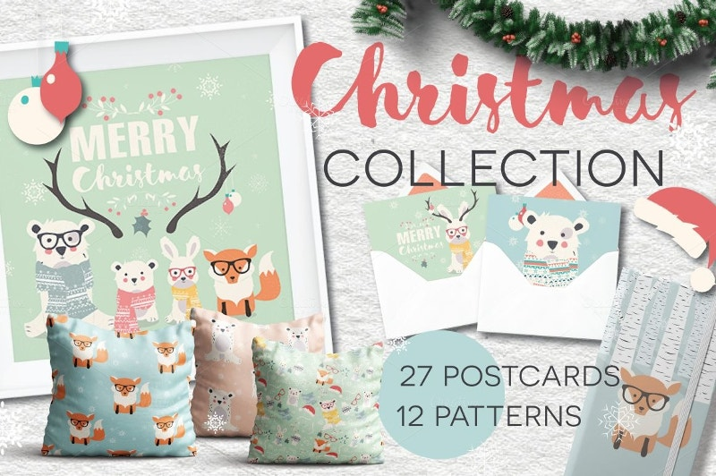 27 postcards collection