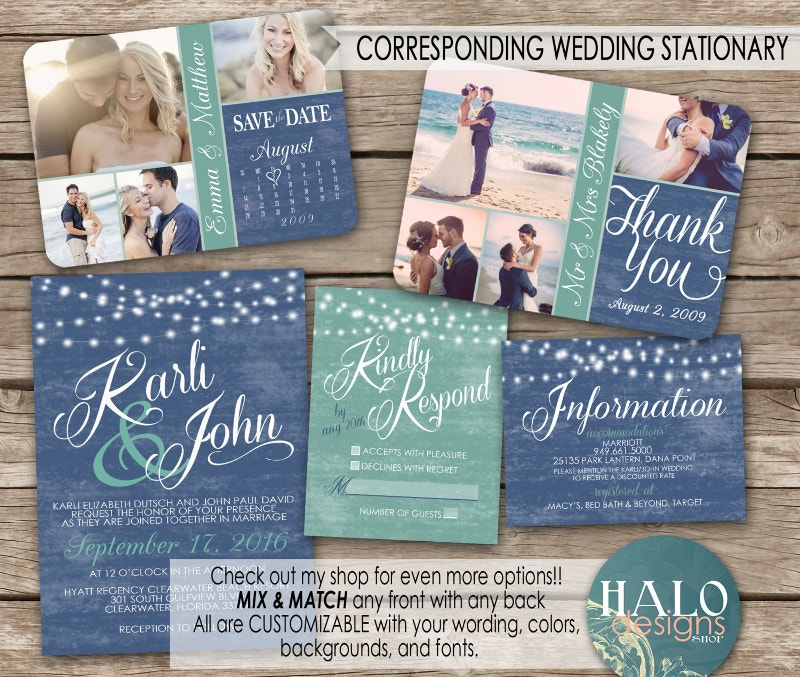 wedding invitation postcard kit