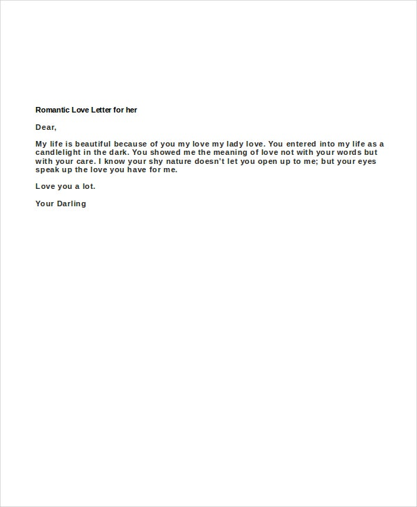 romantic love letter for her