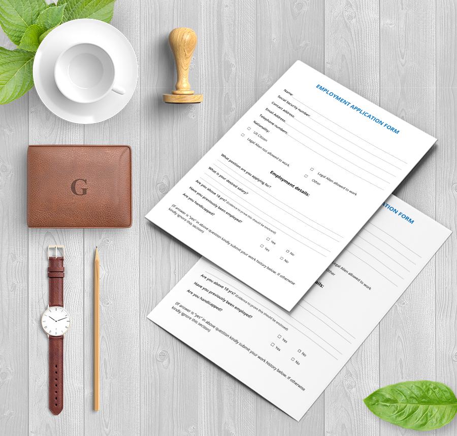 Free Application Templates  Rental Employment Job  Free