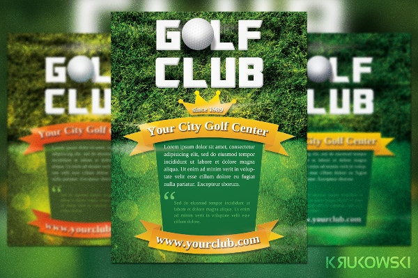 golf club flyer landscape flyer template