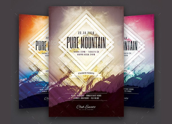 pure mountain landscape flyer