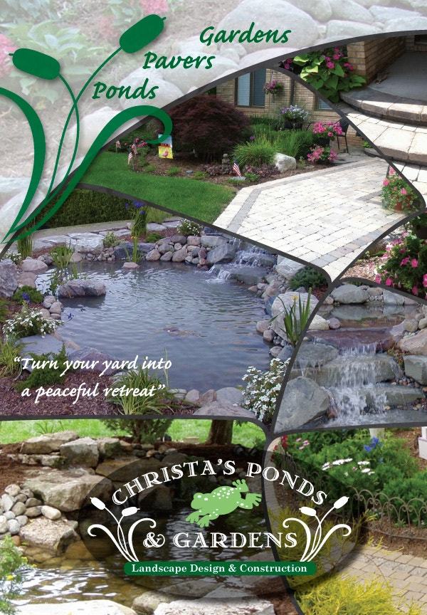 Christa's Ponds & Gardens: Direct Mail Flyer