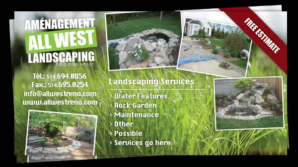 beautiful landscape flyer