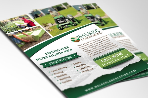 Walker Landscaping Flyer Design