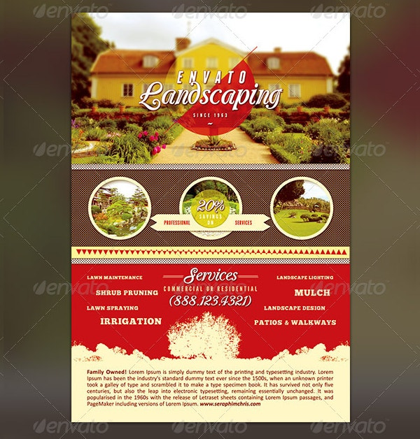 multipurpose landscaping flyer template