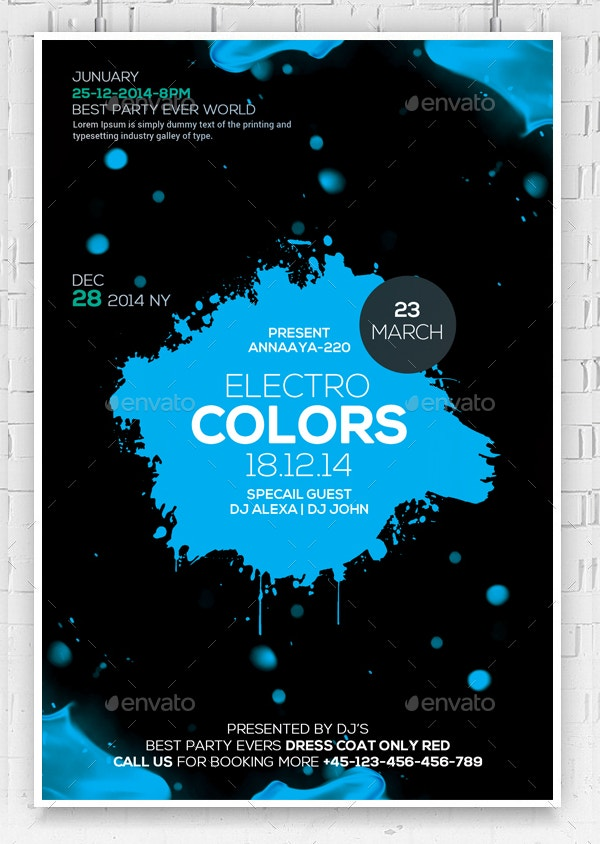 Electro Colors Abstract Flyer