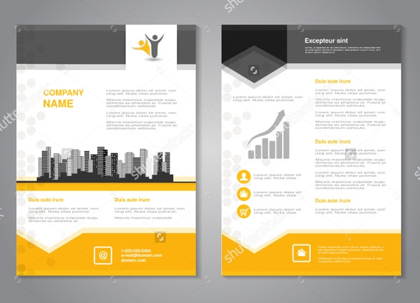 Abstract Flyer With Background Design