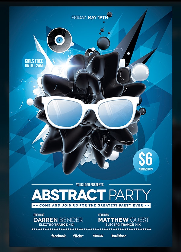 Azure Flyer Template | 22 Abstract Flyers Free Psd Document Download Free Premium