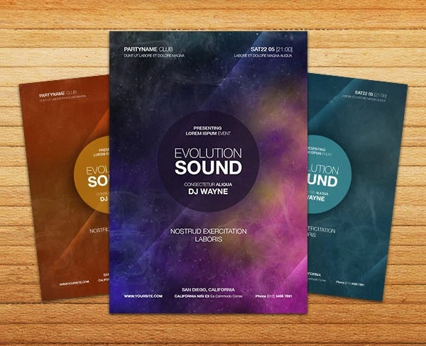 Free PSD Abstract Party Flyer Template