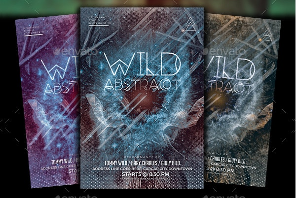 Wild Graphic Abstract Flyer